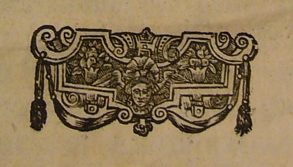 The 'head' word cut ornament from the title page of the 1651 edition of Leviathan (Photo: Paris O'Donnell)