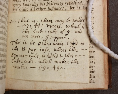 Crouch is affronted by a vague estimate (Balliol College Library shelfmark 910 d 2 (3b)) (Photograph by Lucy Kelsall)