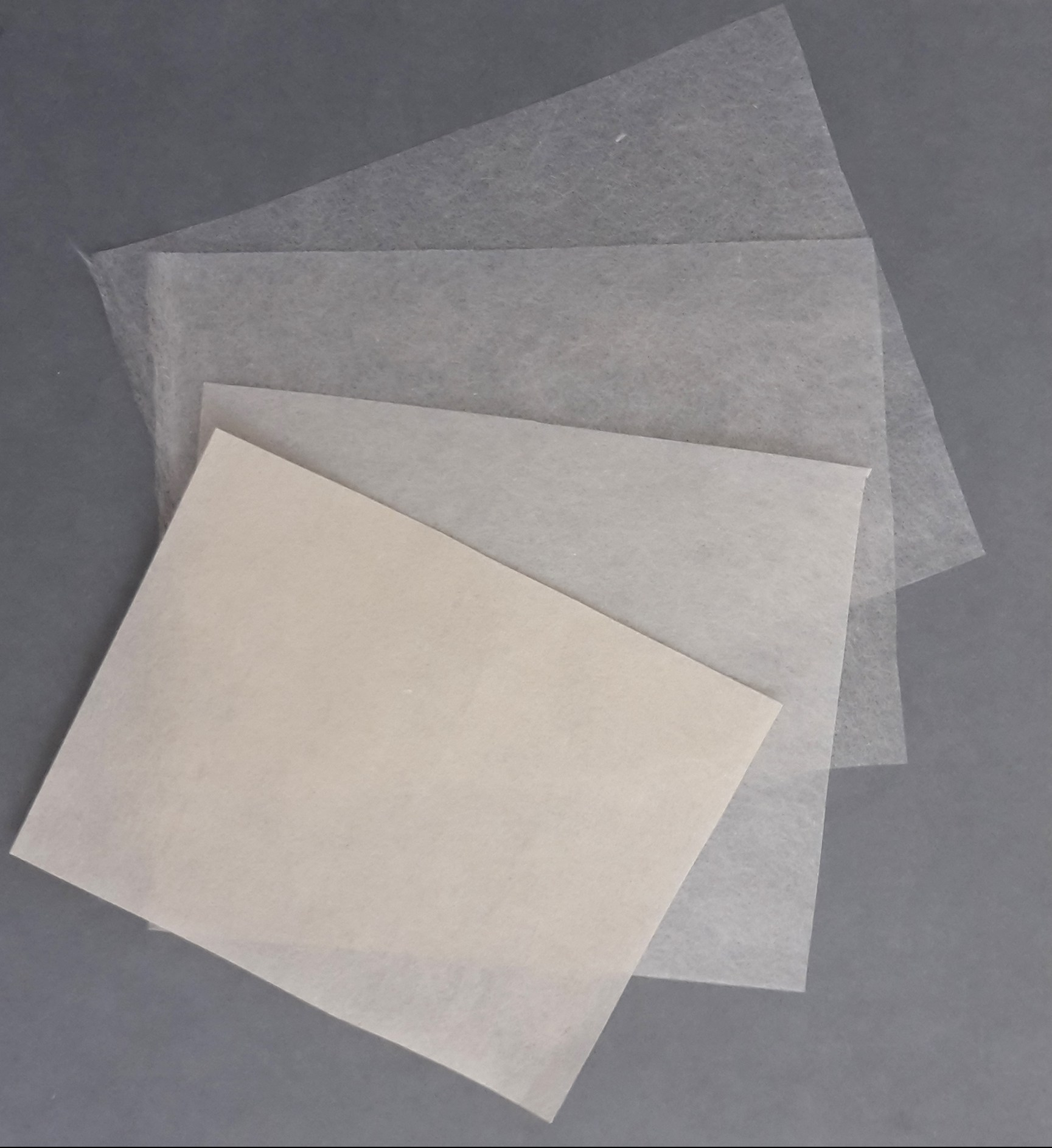 6. A selection of different Kozo fibre paper weights