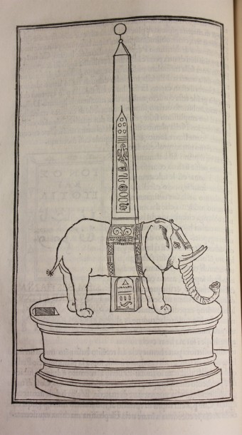 The elephant and obelisk from the Hypnerotomachia