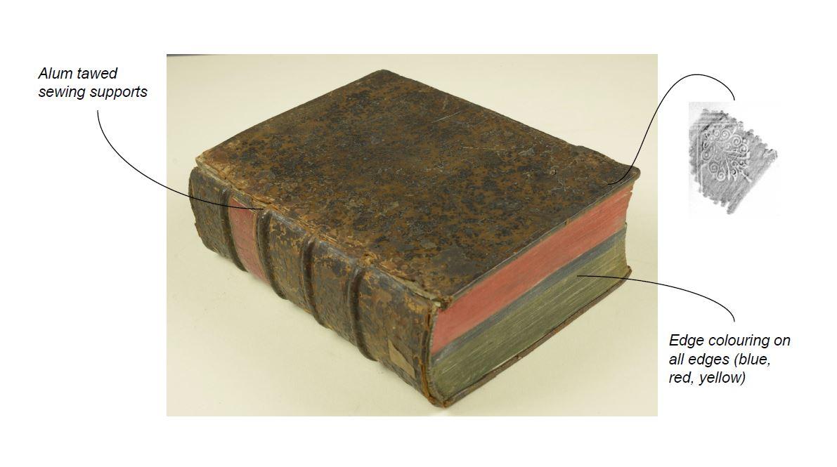 The binders behind thebooks