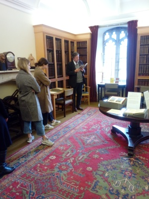 Poetry reading in the Old Dean's Room