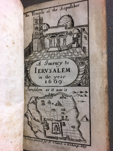 Engraved title page of A Journey to Jerusalem
