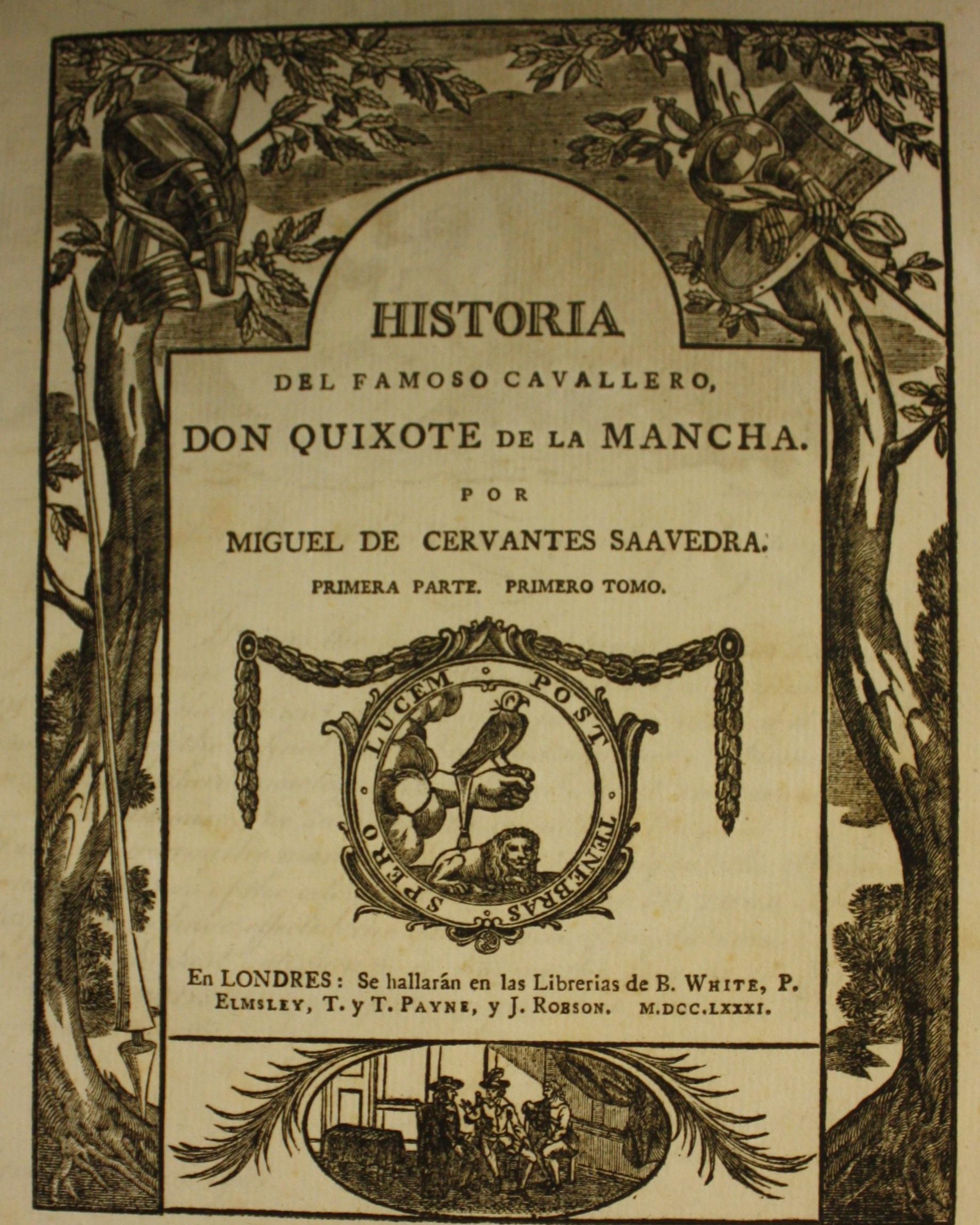 Title page of Don Quixote Part 1