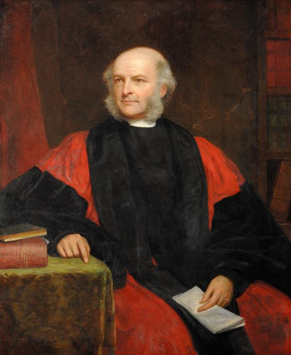 Painting of Robert Scott seated in academic robes