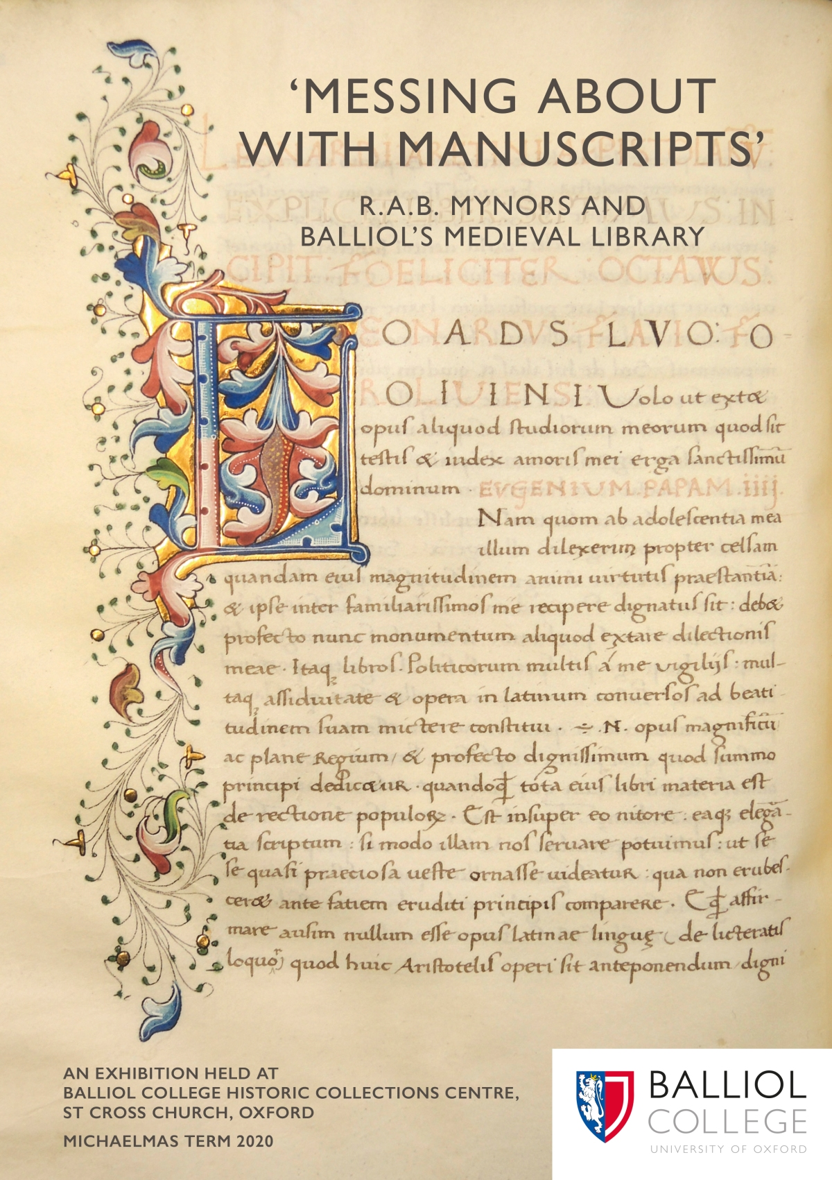 'Messing About with Manuscripts': R.A.B. Mynors and Balliol's MedievalLibrary